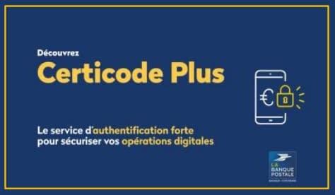 certicode plus la banque postale authentification espace client identification
