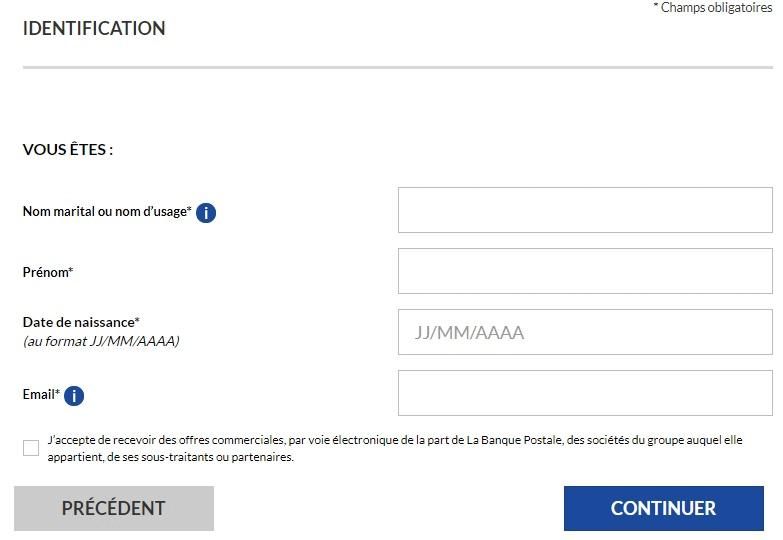 ouvrir un compte en ligne la banque postale